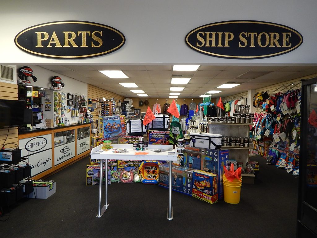 Visit our marina's boat accessories store